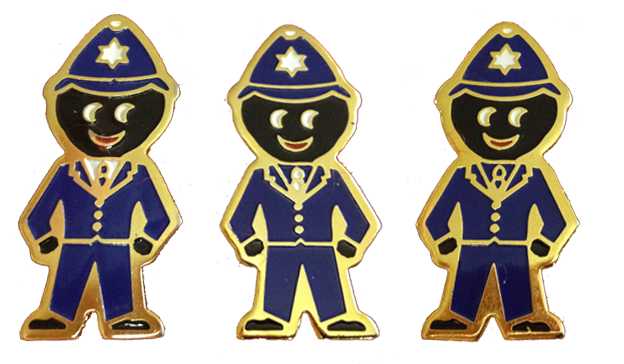 1990 All Blue Policeman Golly Badge